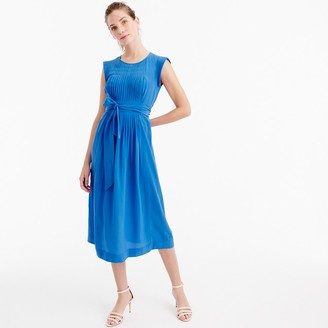 Silk midi dress with tie $168 thestylecure.com