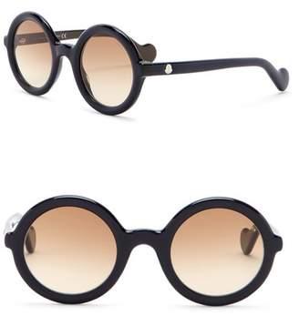 Moncler Mrs. 50mm Round Sunglasses
