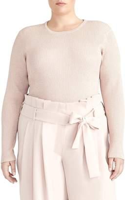Rachel Roy Collection Metallic Ribbed Sweater