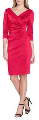 Tahari Arthur S. Levine Petite Stretch Satin Sheath Dress