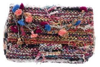 Chanel Classic Jumbo Tweed Pom-Pom Single Flap Bag Pink Classic Jumbo Tweed Pom-Pom Single Flap Bag