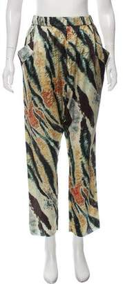 Baja East Printed Silk Pants