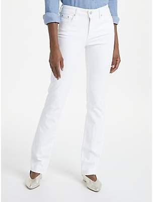 NYDJ Marilyn Straight Leg Jeans, Optic White