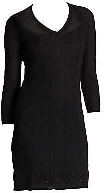 M Missoni Women's Three-Quarter-Sleeve Knit Dress