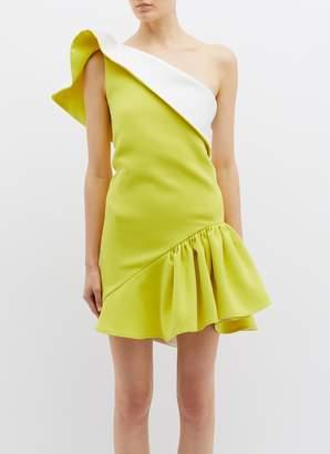 Maticevski 'Enfanta' ruffle one-shoulder peplum dress