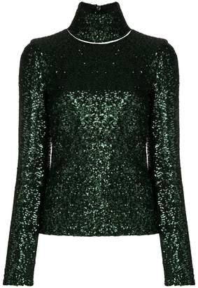 Gianluca Capannolo embellished turtle-neck top