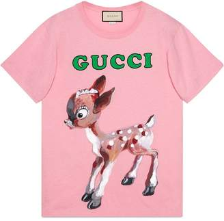 Gucci (グッチ) - Gucci Cotton T-shirt with fawn