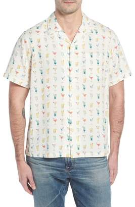 Blend of America Tori Richard Mixalot Trim Fit Silk Camp Shirt