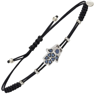 Pippo Perez Fatima Hand Cord Bracelet with Sapphires $1,250 thestylecure.com