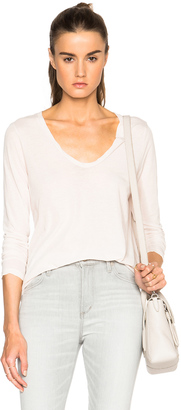 James Perse Heather High Gauge Jersey Tee $135 thestylecure.com