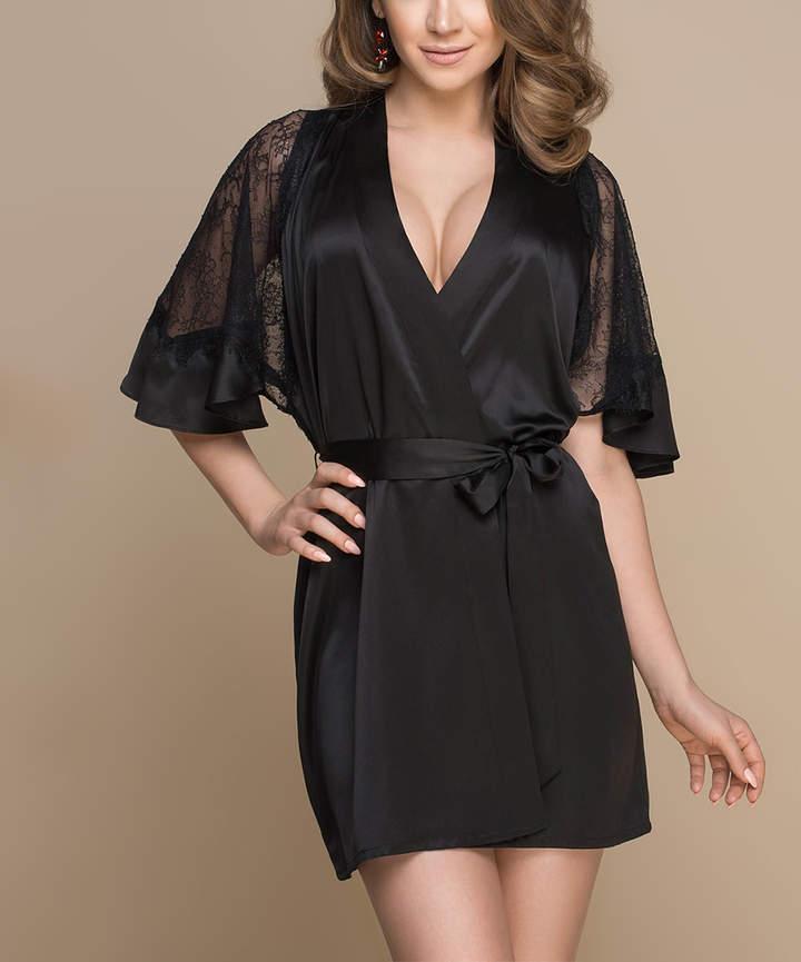 Black Exetia Robe - Women