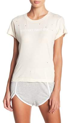 Wildfox Couture Distressed Short Sleeve Shirt