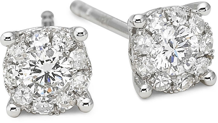 FINE JEWELRY Brilliant Dream 1/3 CT. T.W. Round Diamond Stud Earrings 14K White Gold
