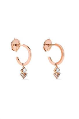 Messika - My Soul 18-karat Rose Gold Diamond Hoop Earrings