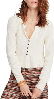 Free People Cotton V-Neck Sweater