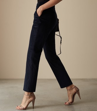 Reiss Our last order date for Christmas has now passed CAREY CORDUROY TROUSERS Navy