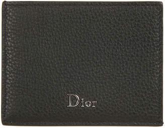 Christian Dior Logo Plaque Cardholder