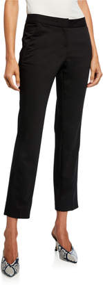 Neiman Marcus Straight-Leg Chino Ankle Pants