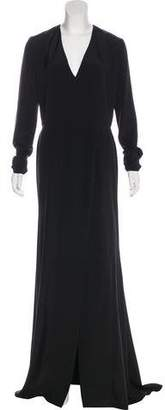 Christian Siriano Long Sleeve Evening Gown