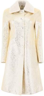 Bottega Veneta Metallic Look Coat