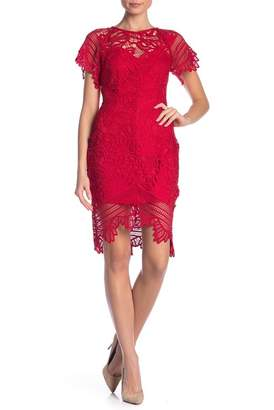 ALLISON NEW YORK Short Sleeve Lace Dress