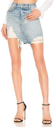 GRLFRND Rhoda High Low Mini Skirt.