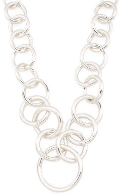 Made In Mexico Sterling Silver Loops Statement Necklace