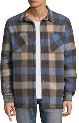 Vans Mens Long Sleeve Button-Front Shirt