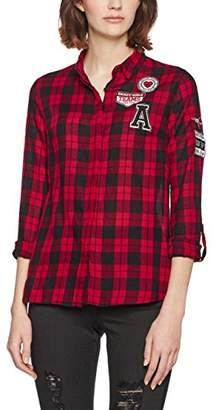 Jennyfer Women's Chemise Noir Shirt,(Manufacturer Size: Meidum)