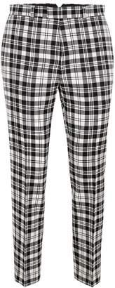 Topman LOCHCARRON X Black And White Tartan Skinny Suit Trousers