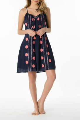 Letarte Embroidered Tank Dress $218 thestylecure.com