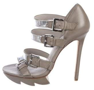 Camilla Skovgaard Metallic Multi-Strap Sandals