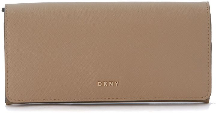 DKNYDkny Natural Beige Leather Wallet