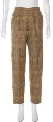 Oscar de la Renta High-Rise Straight Pants
