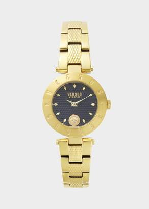 Versus New Logo Blue Dial Gold Watch