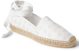 Eyelet lace-up espadrilles $49.95 thestylecure.com