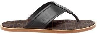 Fendi FF logo flip-flop sandals