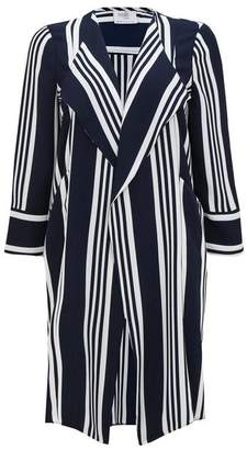 Wallis Petite Navy and White Striped Waterfall Jacket