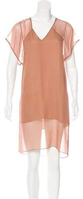 Mason Silk Knee-Length Dress