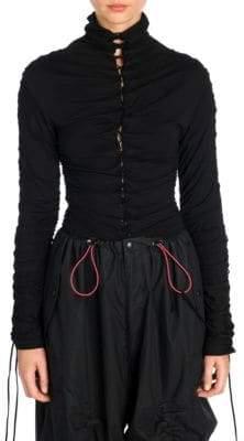 Taverniti So Ben Unravel Project Stretch Lace-Up Bodysuit