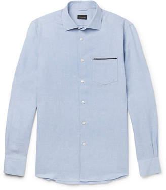 Ermenegildo Zegna Linen and Cotton-Blend Shirt