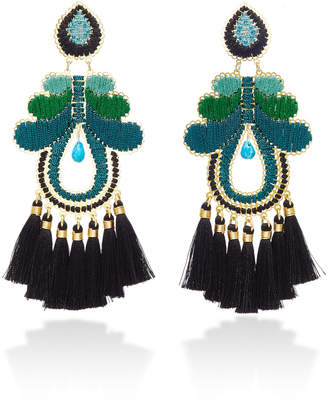 Mercedes Salazar Curubas Negras Gold-Plated Tassel Earrings
