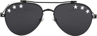 Givenchy White Star Black Aviator Sunglasses $400 thestylecure.com