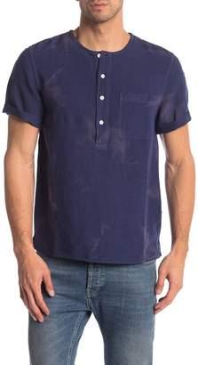 Saturdays NYC Pontus Linen Blend Short Sleeve Shirt