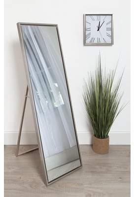 Brayden Studio Whitakers Wood Framed Easel Free Standing Full Length Mirror