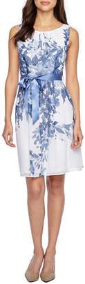 Connected Apparel Sleeveless Blouson Dress