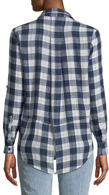 Velvet Heart Riley Button-Front Checkered Blouse