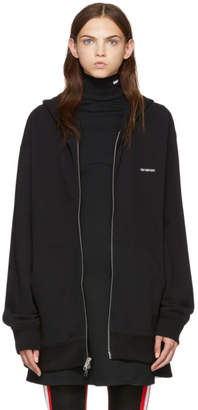 Calvin Klein Black Established Zip Hoodie
