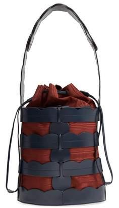 TRADEMARK Scallop Hesse Leather Bucket Bag