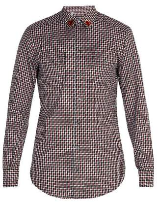 Dolce & Gabbana Heart Patch Cotton Shirt - Mens - Red Multi